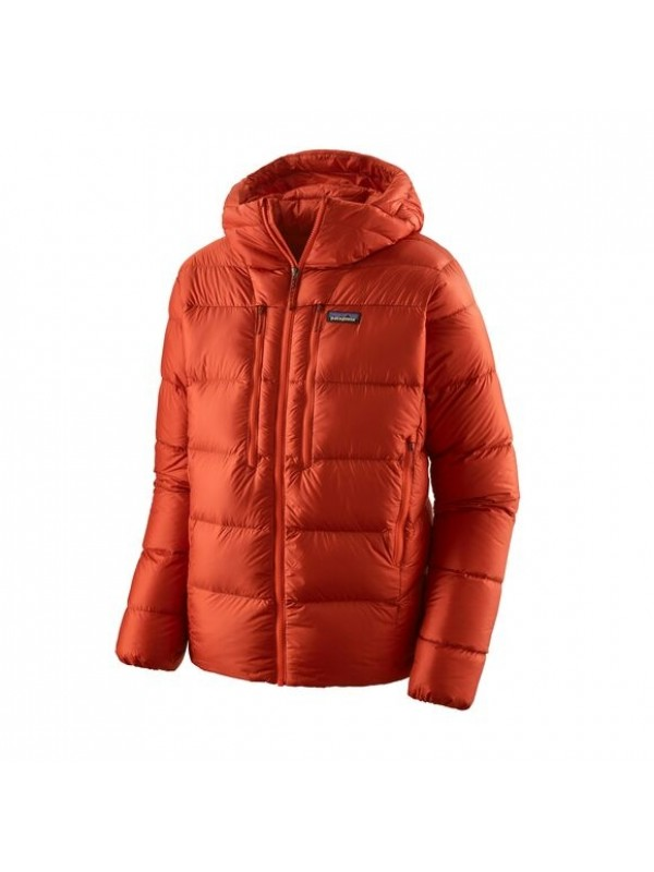 Patagonia Men's Fitz Roy Down Hoody : Hot Ember
