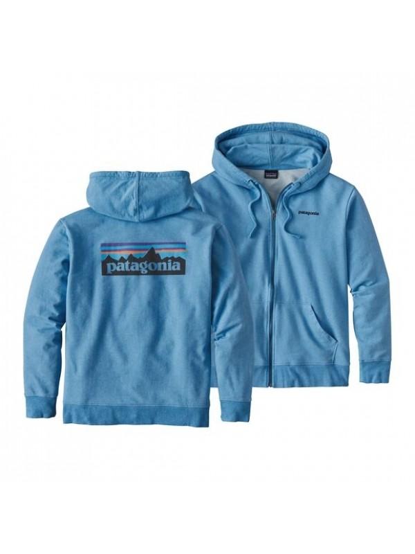 Patagonia P-6 Logo Midweight Full-Zip Hoody : Radar Blue