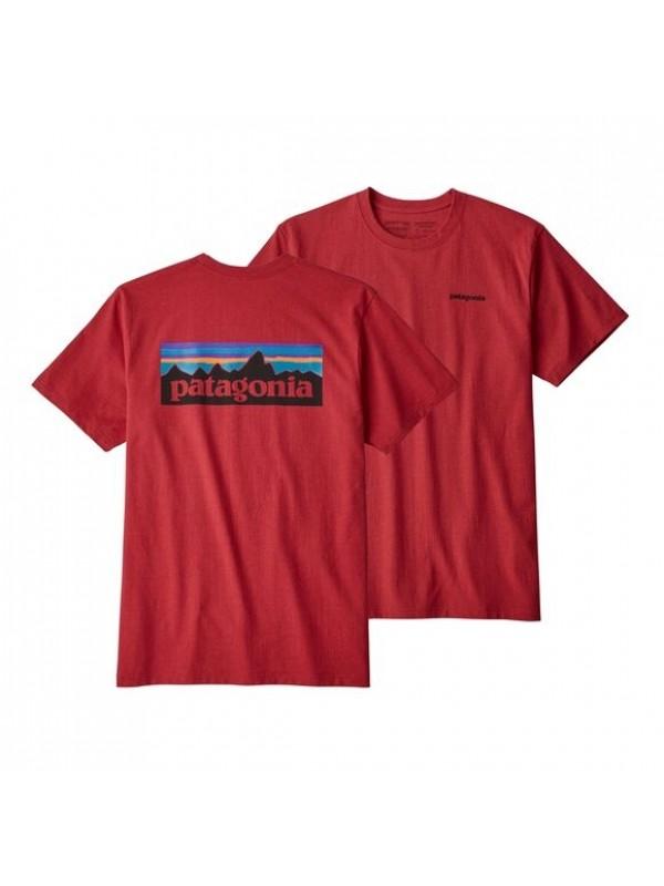 Patagonia Mens Classic  P-6 Logo Responsibili-Tee : Fire