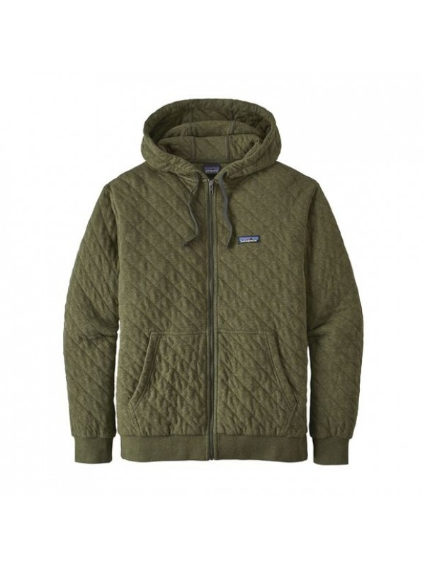 Patagonia Men's Organic Cotton Quilt Hoody : Industrial Green