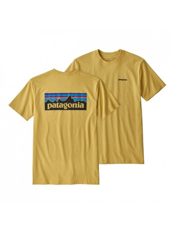 Patagonia Mens Classic  P-6 Logo Responsibili-Tee : Surfboard Yellow