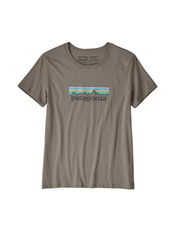 Patagonia Women's Pastel P-6 Logo Organic Cotton Crew T-Shirt : Feather Grey