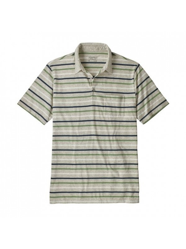 Patagonia Men's Squeaky Clean Polo : Terrain Multi : Tailored Grey
