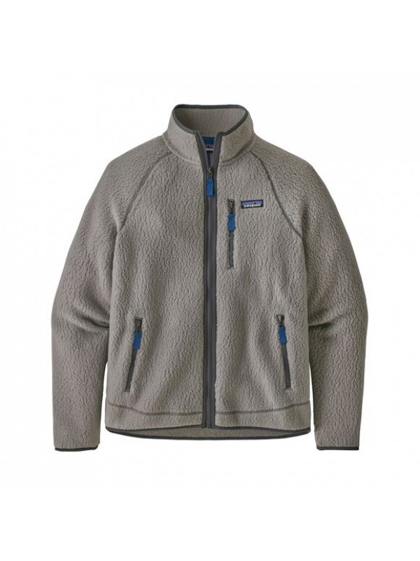 Patagonia Men's Retro Pile Fleece Jacket : Feather Grey