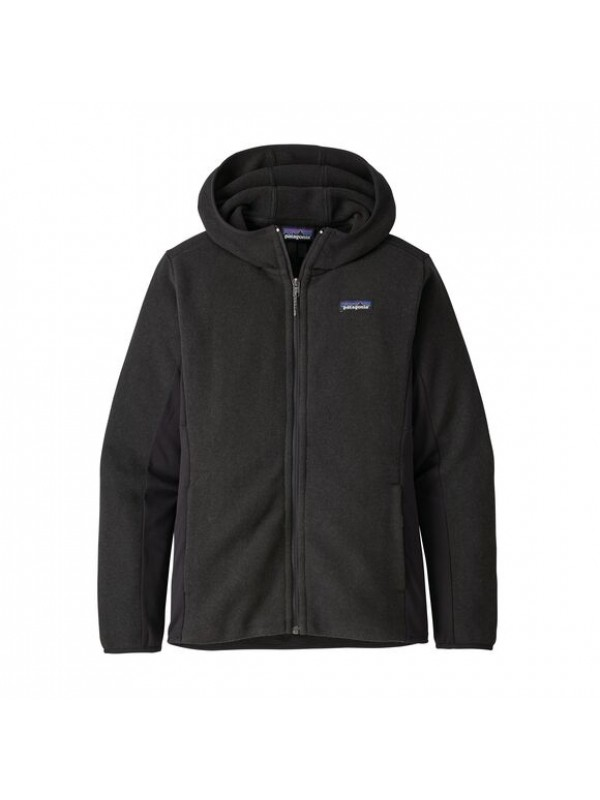 Patagonia Women's Lightweight Better Sweater Fleece Hoody : Black