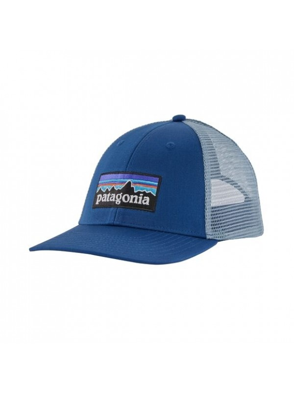 Patagonia P-6 Logo LoPro Trucker Hat : Superior Blue