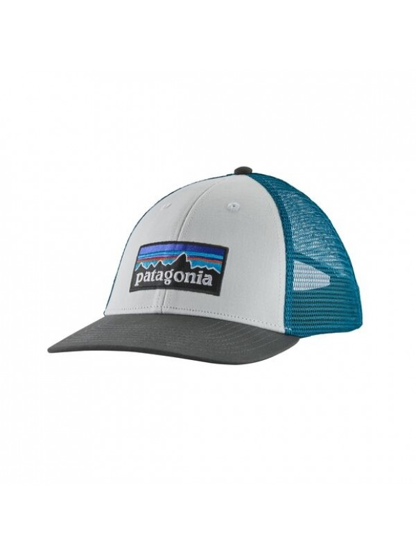 Patagonia P-6 Logo LoPro Trucker Hat : White w Forge Grey