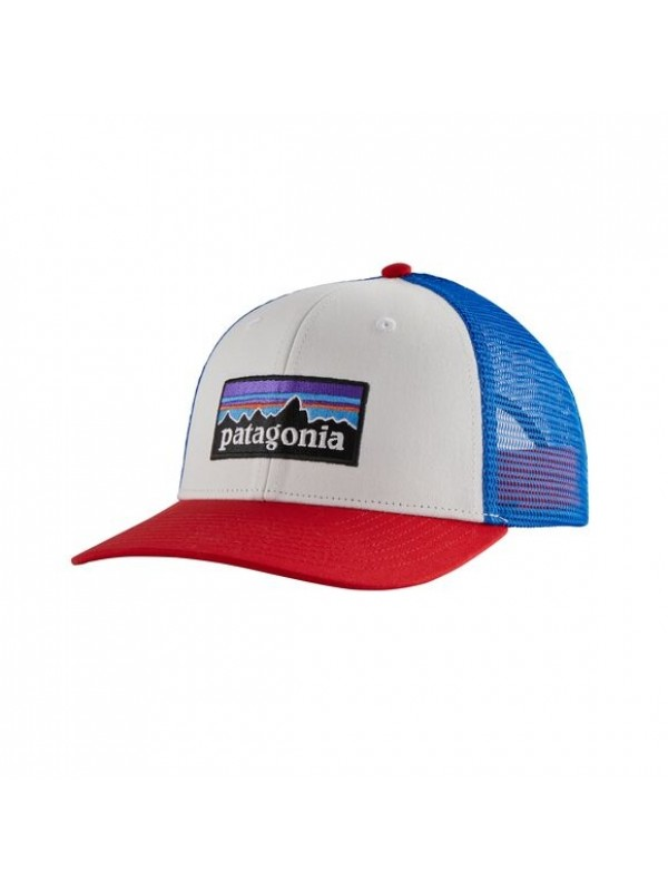Patagonia P-6 Logo Trucker Hat : White