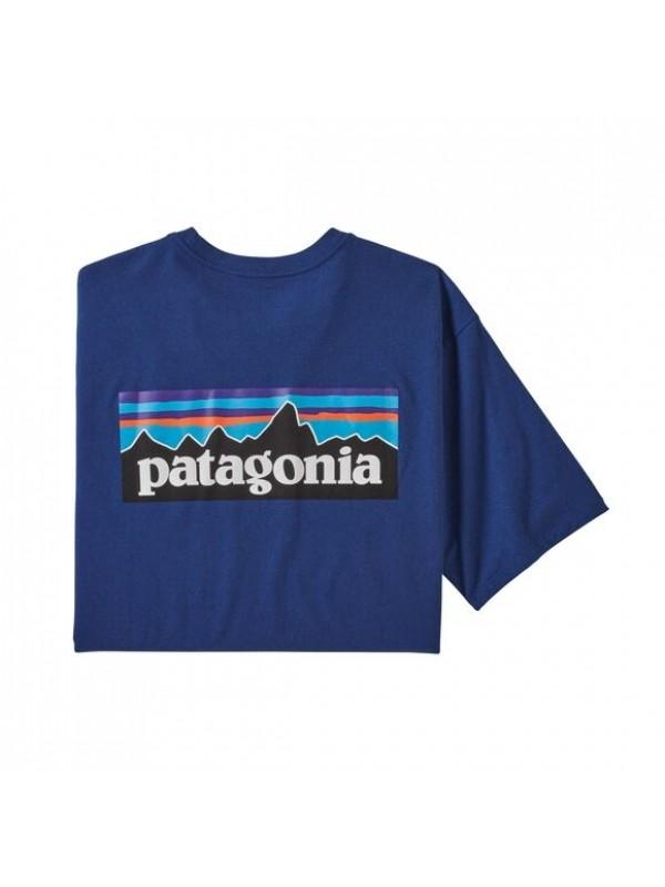Patagonia Men's P-6 Logo Responsibili-Tee : Superior Blue