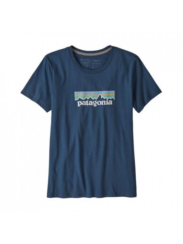 Patagonia Women's Pastel P-6 Logo Organic Cotton Crew T-Shirt : Stone Blue