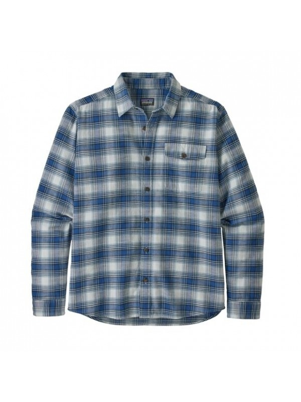 Patagonia Mens  L/W Fjord Flannel Shirt : Grange: Superior Blue