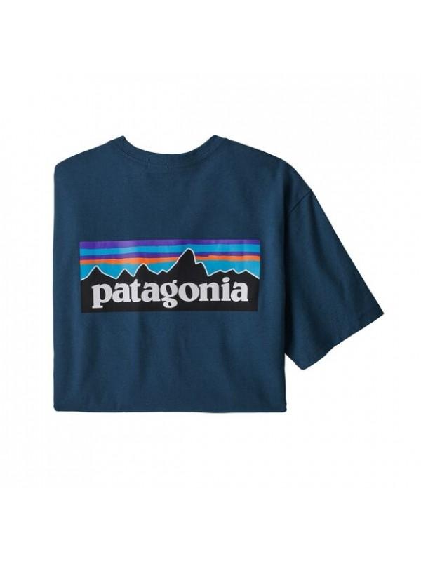 Patagonia Men's P-6 Logo Responsibili-Tee : Crater Blue
