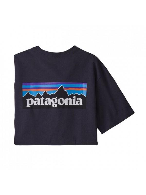 Patagonia Men's P-6 Logo Responsibili-Tee : Piton Purple