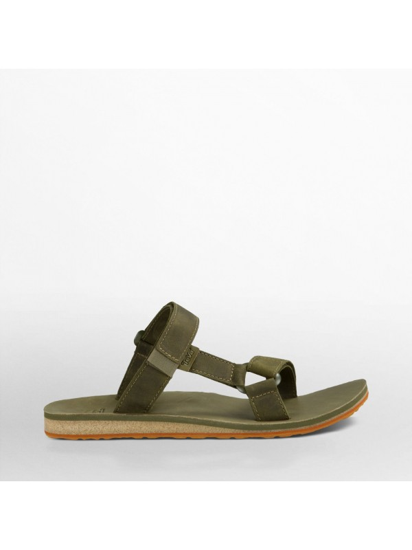 Teva Mens Universal Slide Leather : Olive