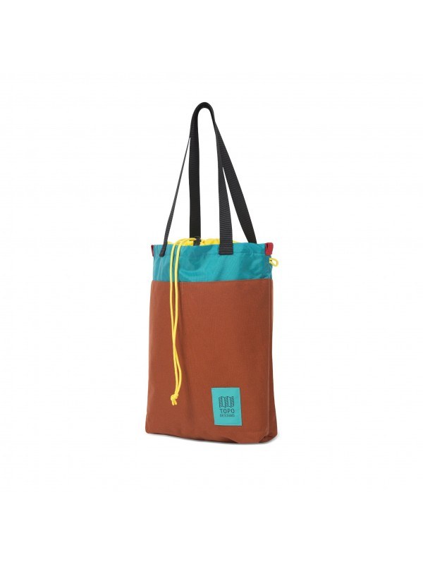 Topo Designs Cinch Tote 12L : Clay / Turquoise