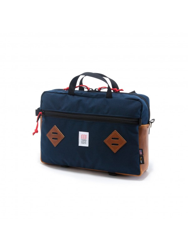 Topo Designs Mountain Briefcase 14L : Navy / Leather
