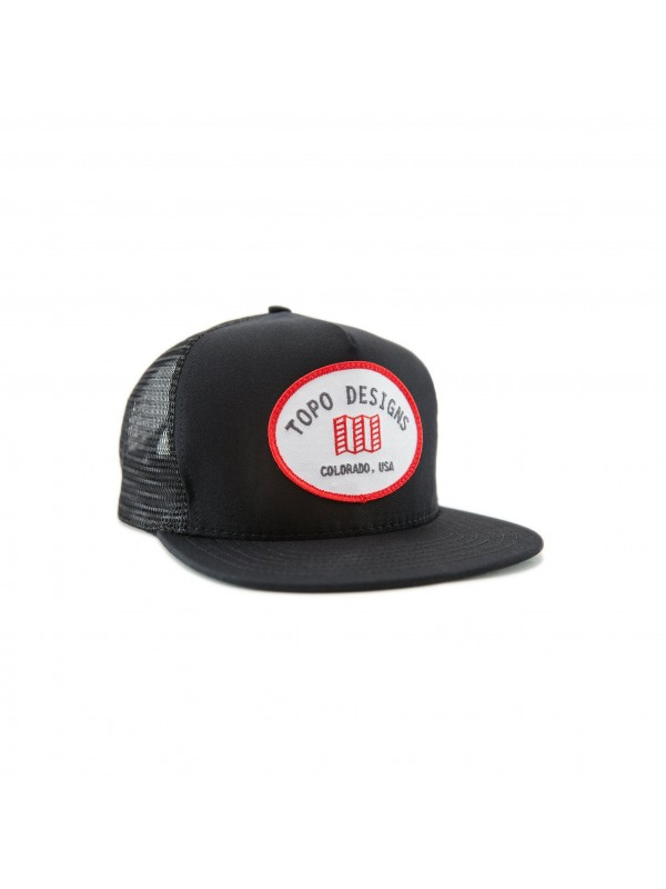 Topo Designs Snapback Hat : Black