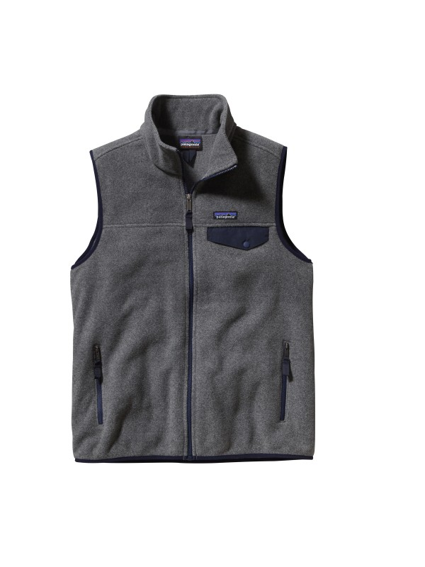 Patagonia Nickel w Navy Blue Lightweight Synchilla Snap-T Vest