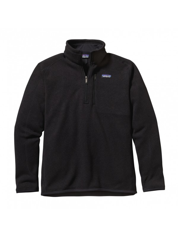 Patagonia Mens Black Better Sweater 1/4-Zip Fleece