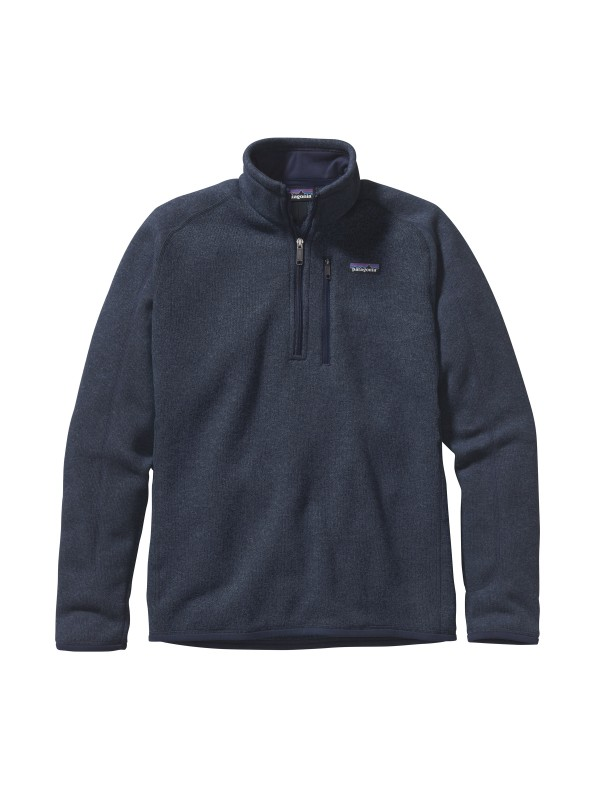 Patagonia Mens Navy Better Sweater 1/4-Zip Fleece