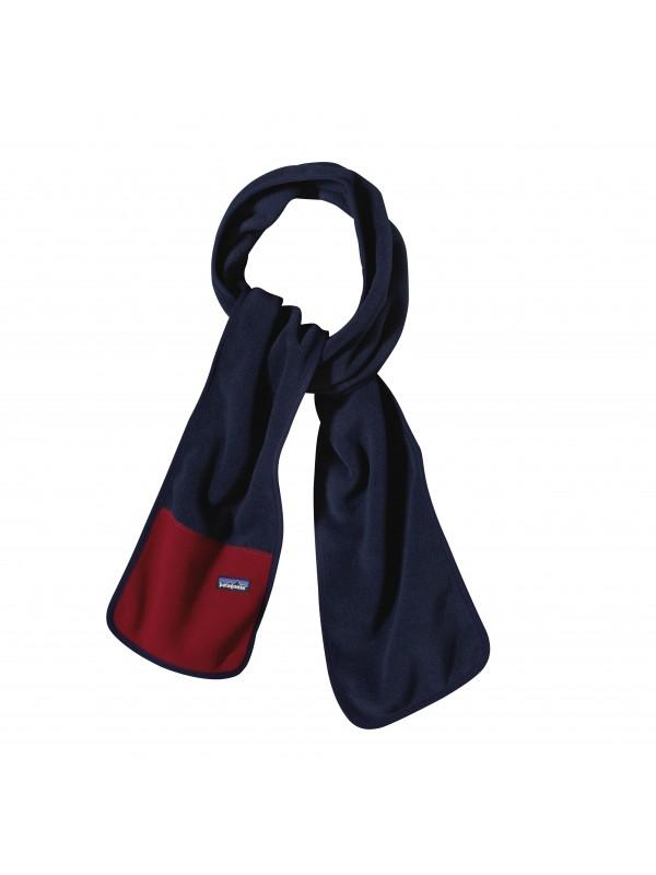 Patagonia Synchilla® Fleece Scarf-Navy Blue w/Raspen Red (NBRA)