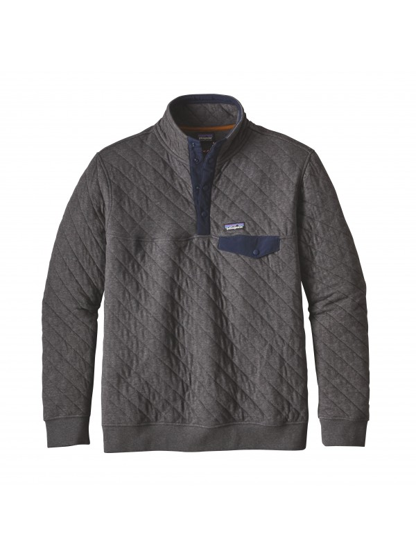 Patagonia Forge Grey Cotton Quilt Snap-T® Pullover