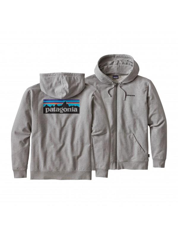 Patagonia Feather Grey P-6 Logo Midweight Full-Zip Hoody