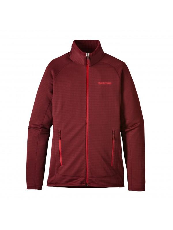 Patagonia Women's R1 Full-Zip Fleece Jacket : Drumfire Red