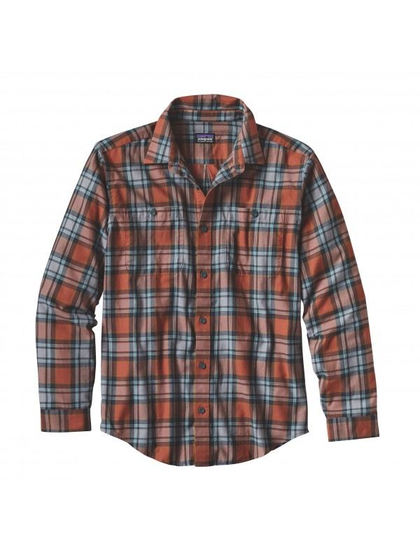 Patagonia Canyon Brown Long-Sleeved Pima Cotton