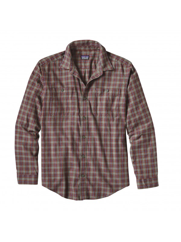 Patagonia Industrial Green Long-Sleeved Pima Cotton