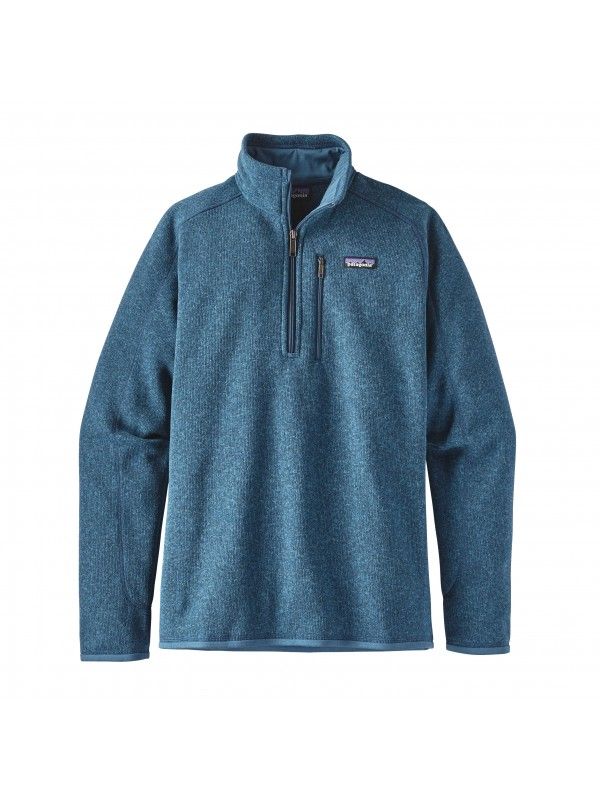 Patagonia Mens Big Sur Blue  Better Sweater 1/4-Zip Fleece