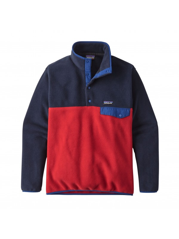 Patagonia Classic Red European Fit Lightweight Synchilla® Snap-T Fleece Pullover