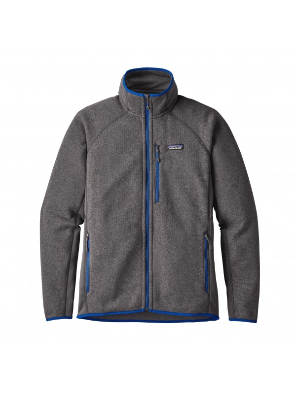 Patagonia Forge Grey / Viking Blue Performance Better Sweater Fleece Jacket
