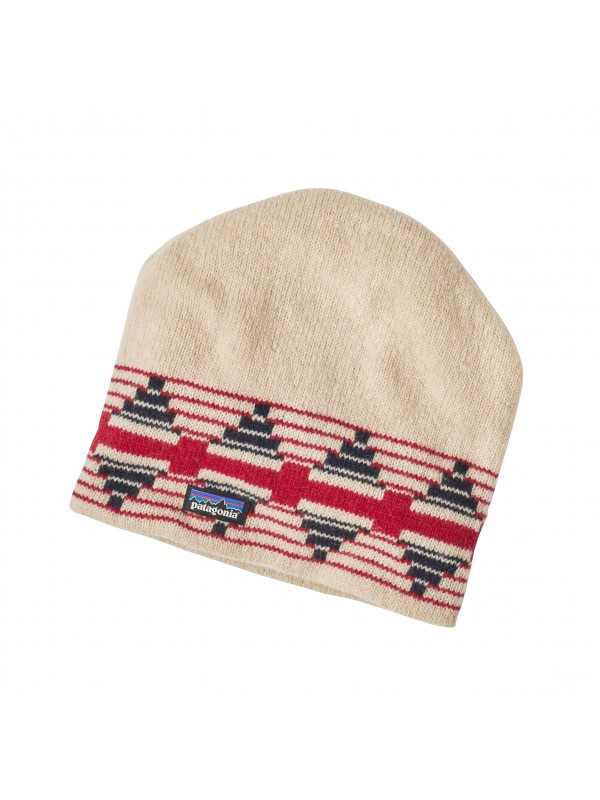 Patagonia Backslide Beanie - Pueblo Stripe: Toasted White