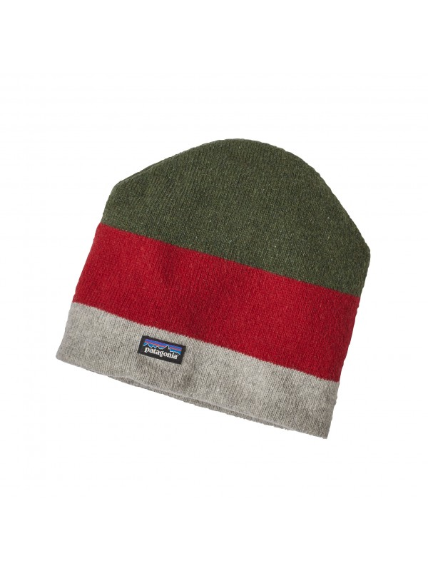 Patagonia Backslide Beanie - Sediment Stripe: Drifter Grey