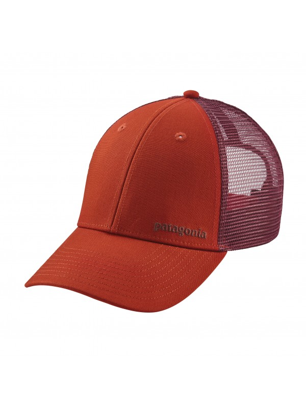 Patagonia Small Text Logo LoPro Trucker Hat -Roots Red (RTSR)