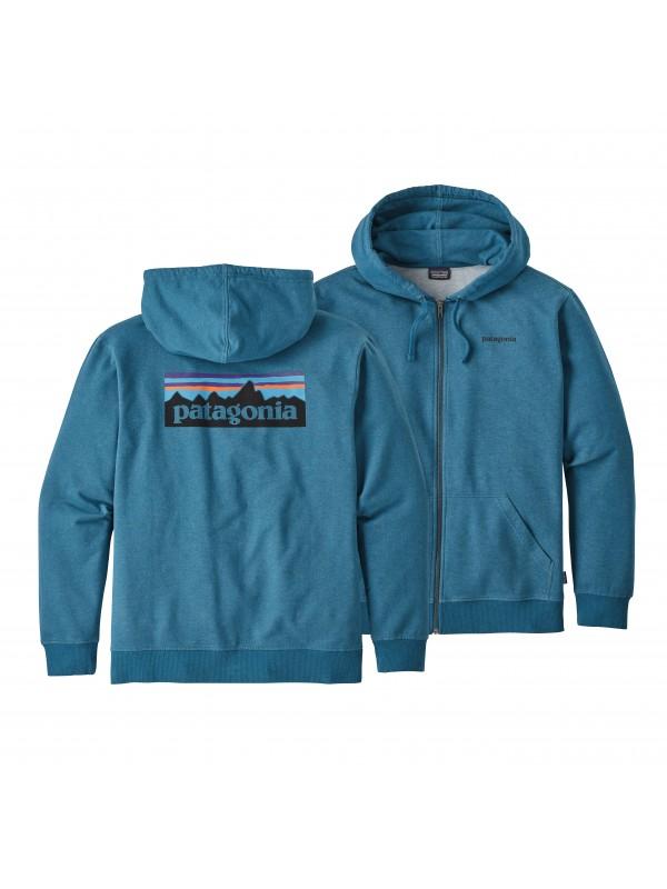 Patagonia Big Sur Blue P-6 Logo Midweight Full-Zip Hoody