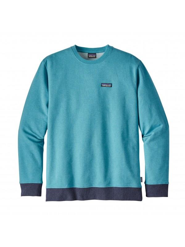Patagonia Filter Blue P-6 Label Midweight Crew Sweatshirt