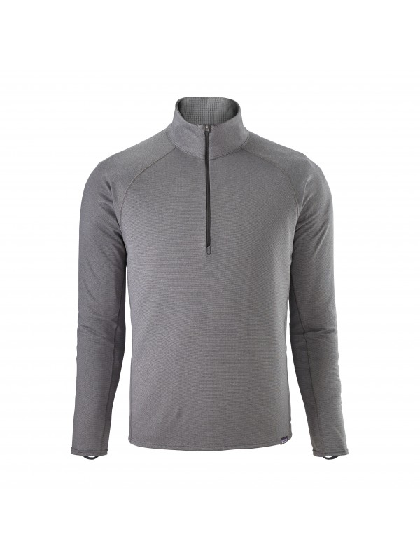 Patagonia Mens Forge Grey -Feather Grey Capilene Midweight Zip-Neck