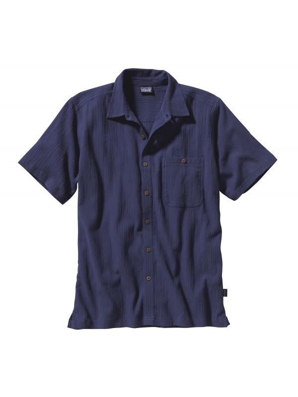 Patagonia Men's White A/C® Shirt : Classic Navy