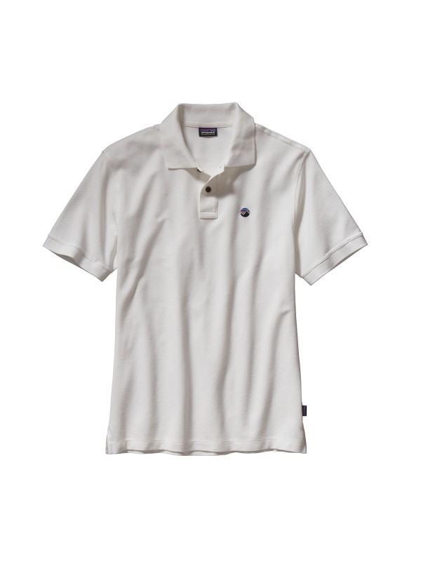 Patagonia Men's White  Fitz Roy Emblem Polo