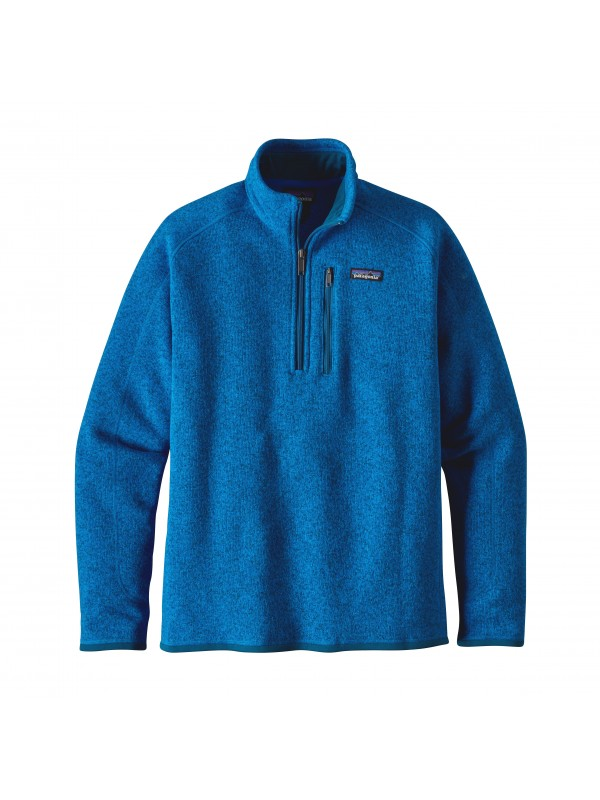 Patagonia Mens Andes Blue Better Sweater 1/4-Zip Fleece