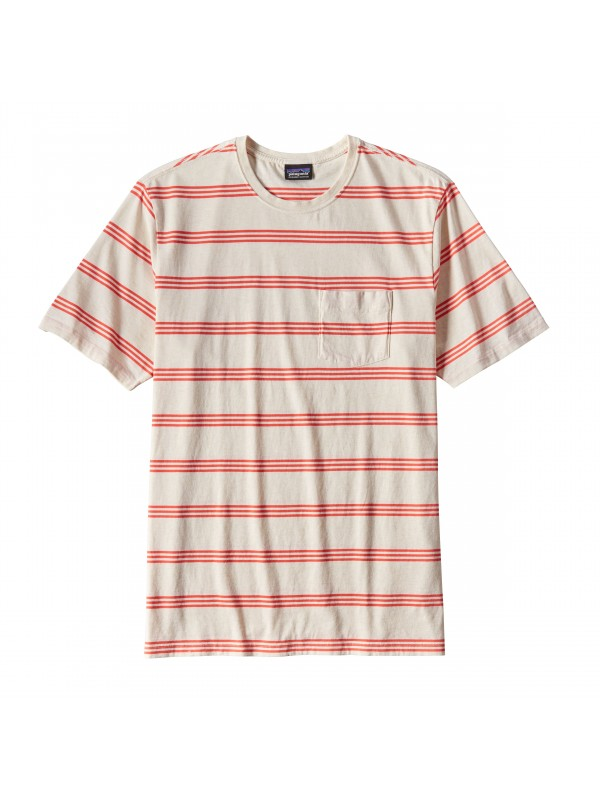 Patagonia Toasted White Squeaky Clean Pocket Tee