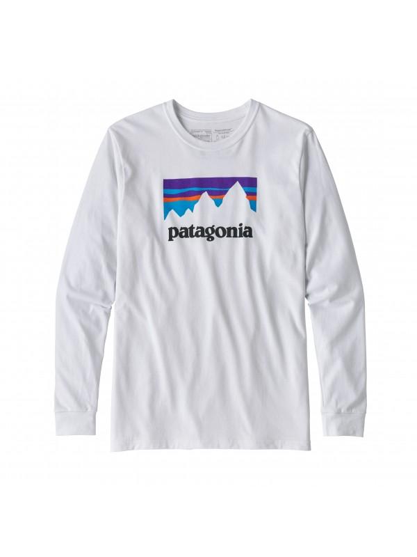 Patagonia Men's Long-Sleeved Shop Sticker Responsibili-Tee