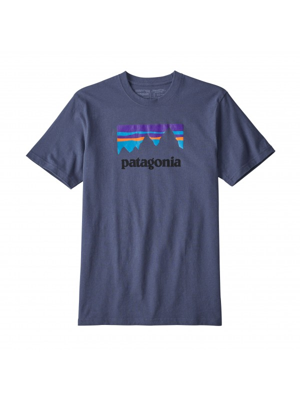 Patagonia Men's Dolomite Blue Shop Sticker Responsibili-Tee