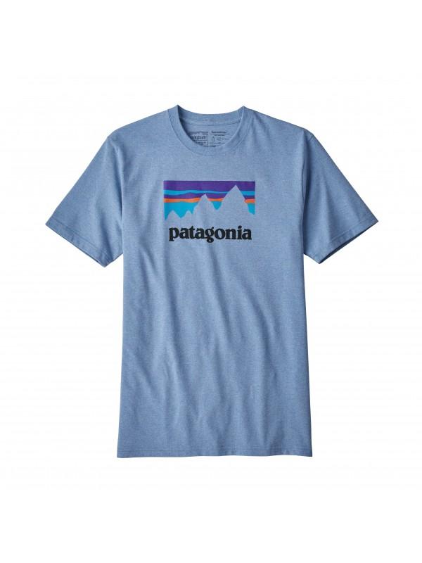 Patagonia Men's Railroad Blue Shop Sticker Responsibili-Tee®