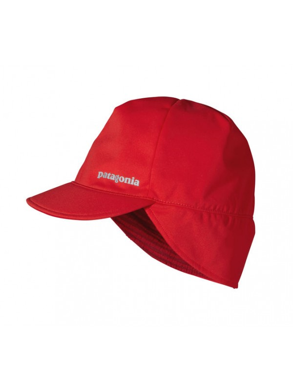 Patagonia Fire Red Wind Shield Beanie