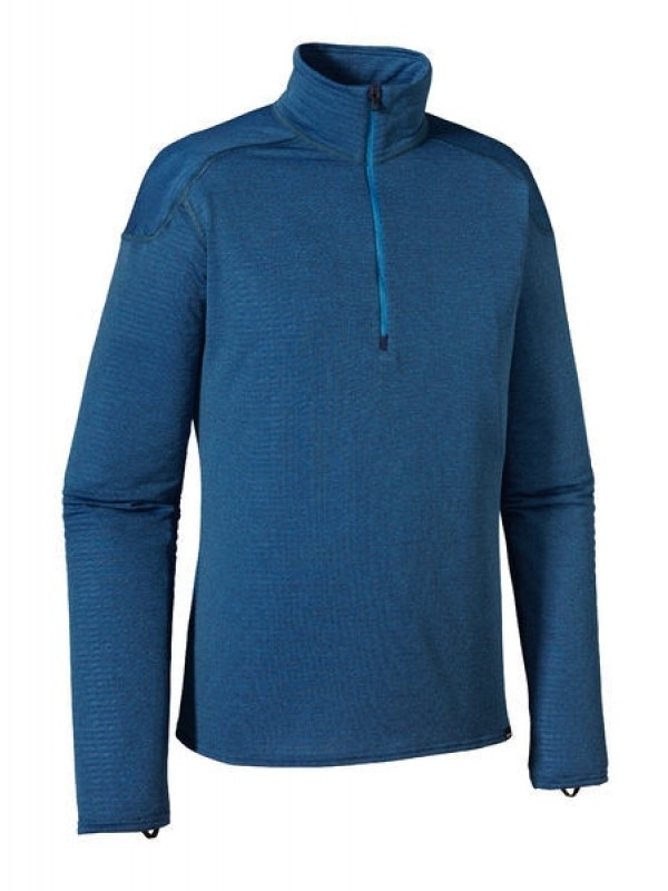 Patagonia Navy w Andes Blue Capilene® 4 Zip Neck
