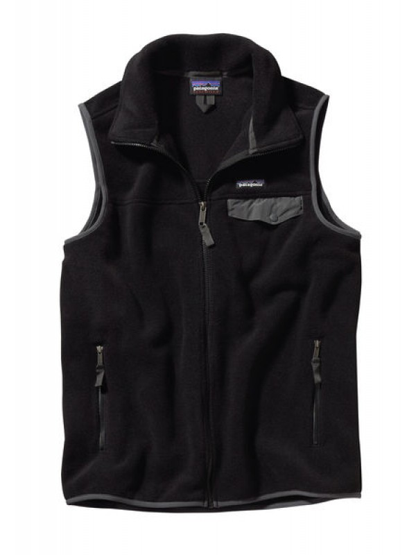Patagonia Black w Forge Grey Lightweight Synchilla Snap-T Vest