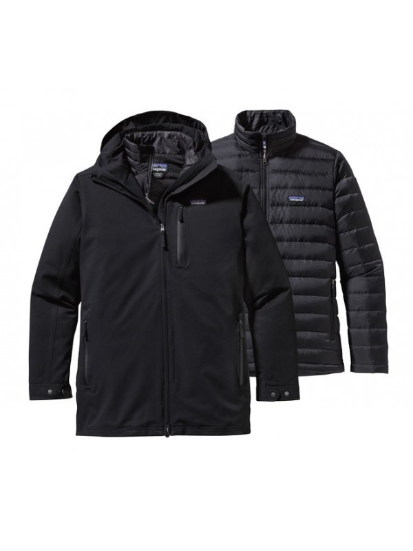Patagonia Mens Tres 3-in-1 Parka : Black